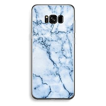 Samsung Galaxy S8 Plus Transparent Case - Blue marble
