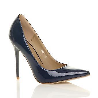 Ajvani dame høj hæl pegede kontrast ret smart parts arbejde sko pumper