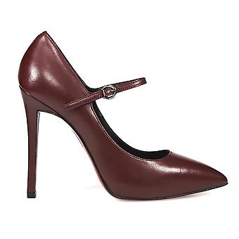 Franco Colli ladies FC411BBORDEAUX Burgundy leather pumps