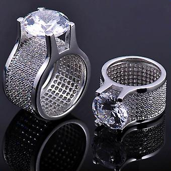 Iced Out Bling Micro Pave Ring - LA silber