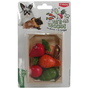 Tyrol Crated Veggies Tutti Woody (Small pets , Toys)