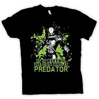 Dla dzieci T-shirt-Predator Jeśli krwawi możemy - śmieszne