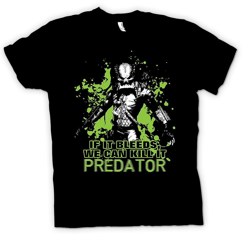 Kids T-shirt - Predator If It Bleeds We Can - Funny