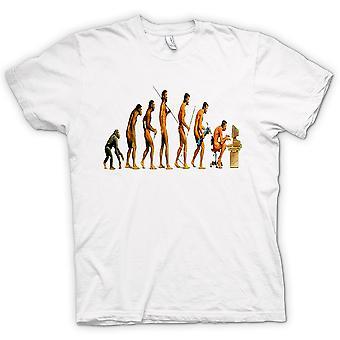 男装 t 恤-芒进化 — — 有趣