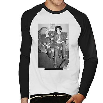 Sid Vicious And Nancy Spungen Hanging Out London 1978 Men's Baseball Long Sleeved T-Shirt