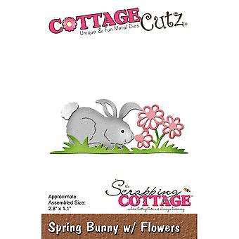 CottageCutz Die-Spring Bunny With Flowers, 2.8