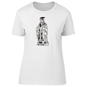 Artistic Ancient Chinese Man Tee Women's -Image by Shutterstock