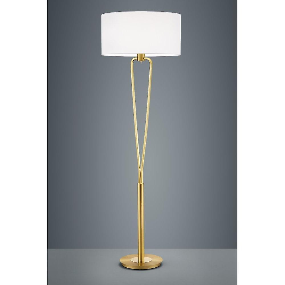 Trio Lighting Paris Ii Classic Brass Matt Metal Floor Lamp