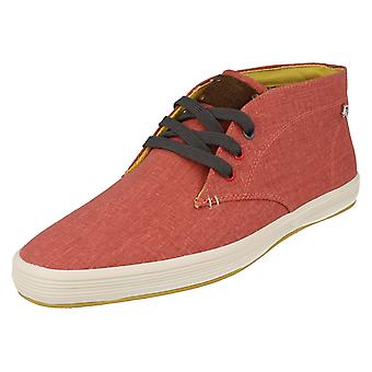 Mens Fish n Chips by Base London Canvas Ankle Boots Rod