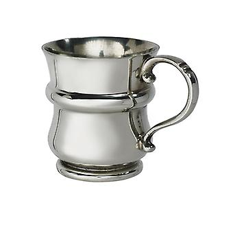 Traditional Thistle Christening Baby's Pewter Mug
