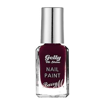 Barry M Barry M Gelly Hola brillo uñas pintura - negro cereza