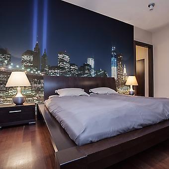 Tapete - Scheinwerfern über NYC
