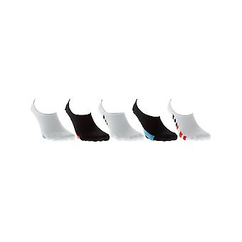 Globe Assorted Stamped Invisible Pack of 5 Ankle Socks