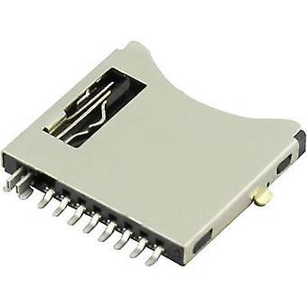 microSD Card connector Push, Push Attend 112I-TDA