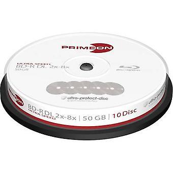 Primeon 2761311 blank Blu-ray BD-R DL 50 GB 10 PC (s) spindel anti-kras coating