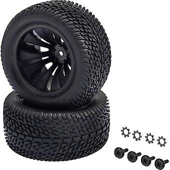 Reely 1:10 XS Truggy Wheels Block Tread 12-spoke