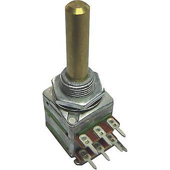 Potentiometer Service 4168 Single turn rotary pot Stereo 0.2 W 100 kΩ 1 pc(s)