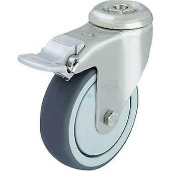 Blickle 574327 Stainless steel equipment-steering locking device with reverse lock Ø 80 mm, plain bearing