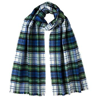 Johnstons of Elgin Campbell of Argyll Extra Fine Tartan Scarf - White/Blue/Green