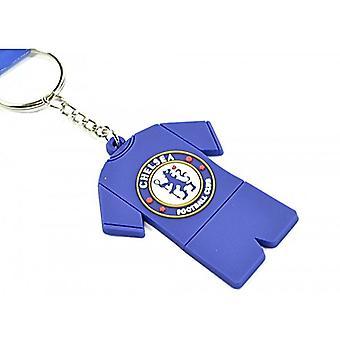 Chelsea Fc Crest Kit Pvc Flexible Keyring