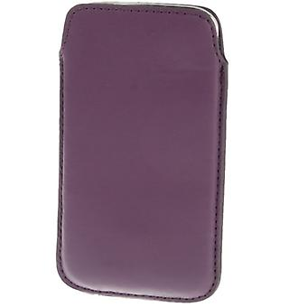 Fare scorrere il manicotto mobile borsa custodia viola / viola