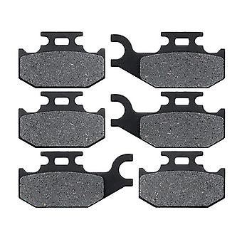 KMG Front + Rear Brake Pads for 2002-2004 Bombardier Quest 650 4X4 - Non-Metallic Organic NAO Brake Pads Set