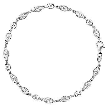 Gemengde filigraan en Mariner Link Chain Anklet In Sterling Zilver