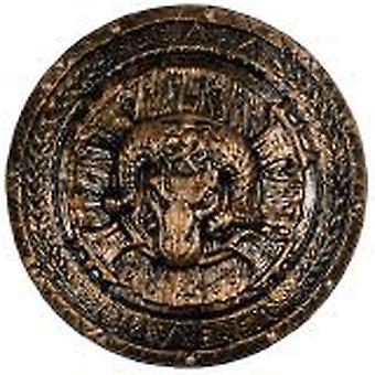 Cabeza de carnero grabado placa romano antiguo traje de Gladiador Guerrero accesorio estilo carnaval