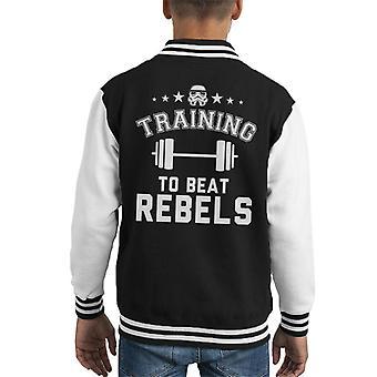 Opprinnelige Stormtrooper trening takt opprørerne barneklubb Varsity jakke