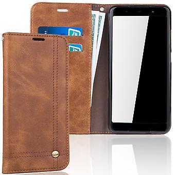 Celular capa case para WIKO Lenny 5 tampa caso carteira marrom