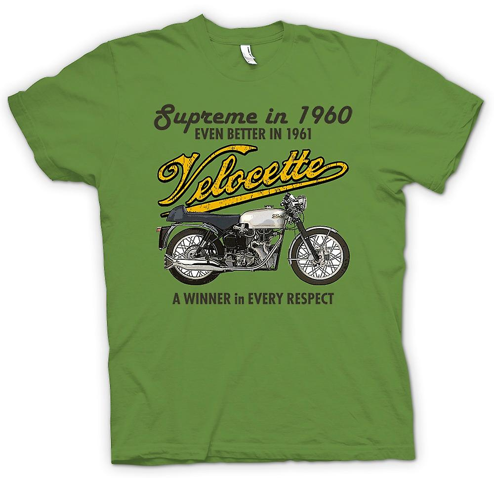 Mens T-shirt - Velocette 61 Supreme - Bike