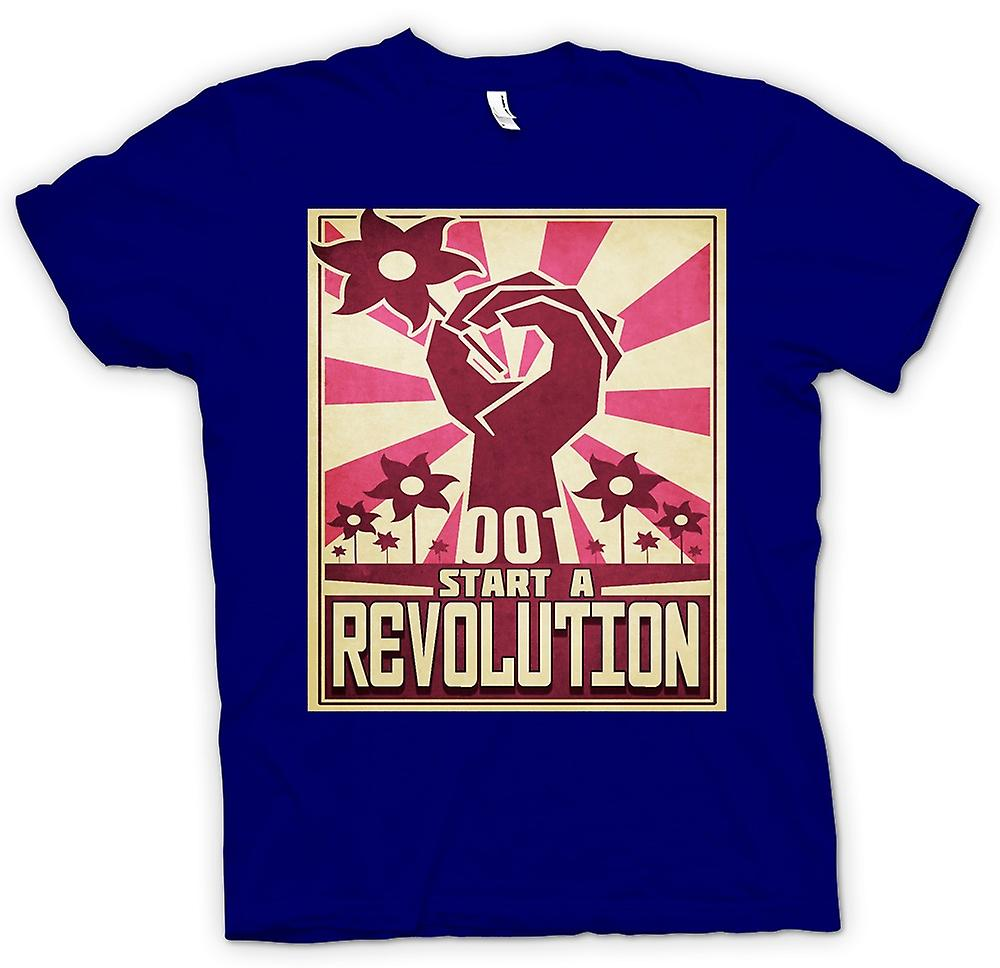 Herr T-shirt - starta en Revolution - Cool Design