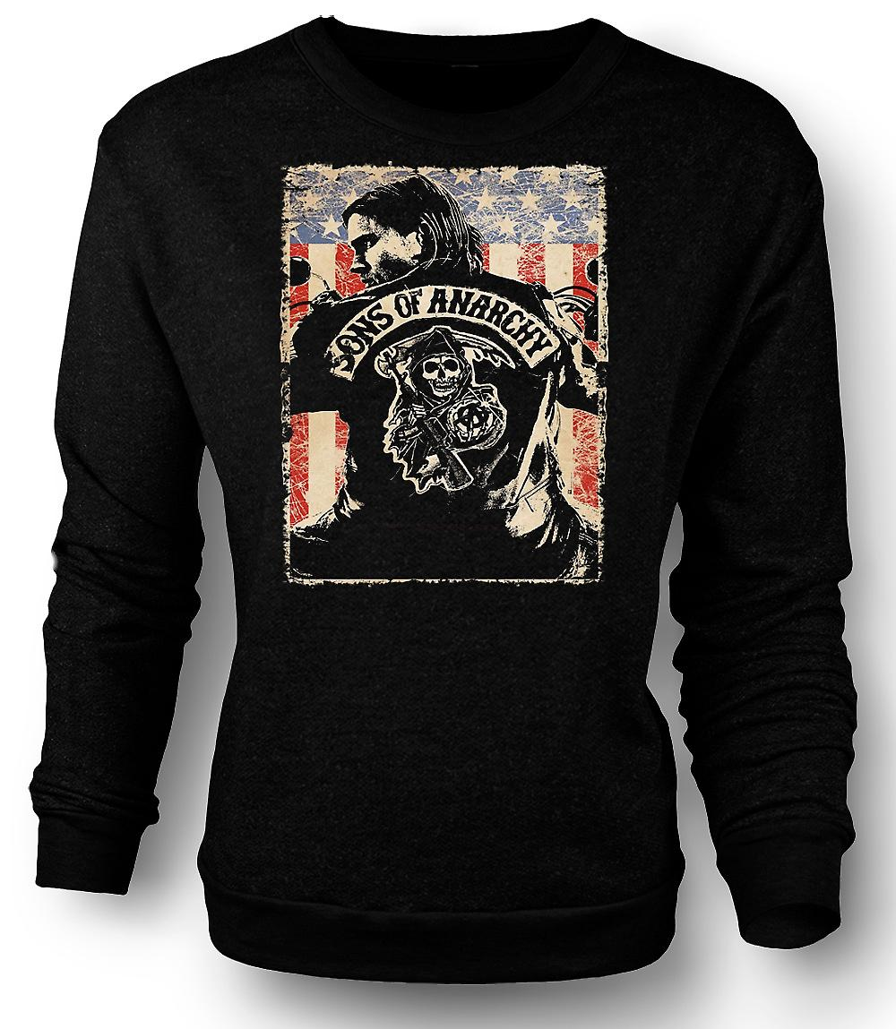 Mens Sweatshirt Sons Of Anarchy - Biker Gang - TV Poster