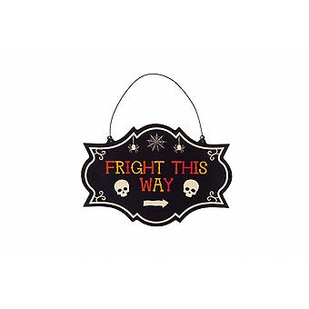 CGB Giftware Haunted House Fright This Way Sign