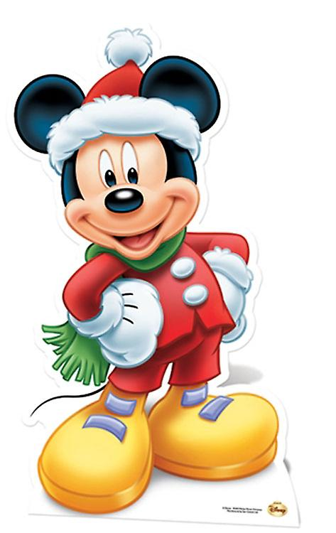 Mickey Mouse Santa Claus Lifesize Cardboard knipsel / Standee
