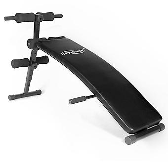 Banc de musculation réglable pliable abdominaux sport fitness musculation max 150 kg 0701006