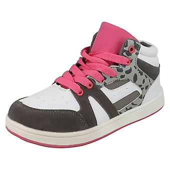 Girls Spot On Hi-Top Trainers