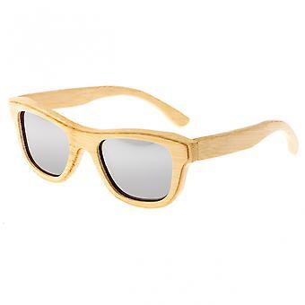 Earth Wood Westport Polarized Sunglasses - Khaki/Silver