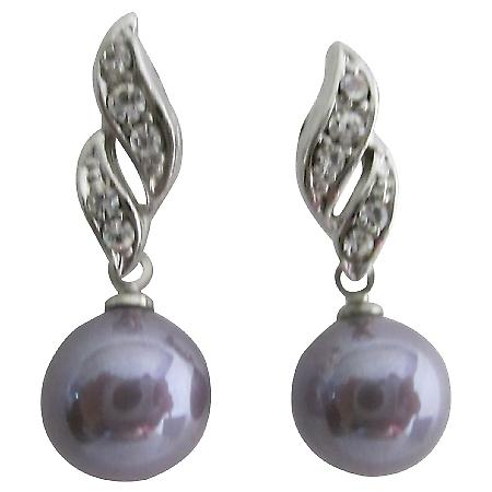 Reasonable Low-Priced Purple Surgical Post Earrings Bridesmaid Jewelry