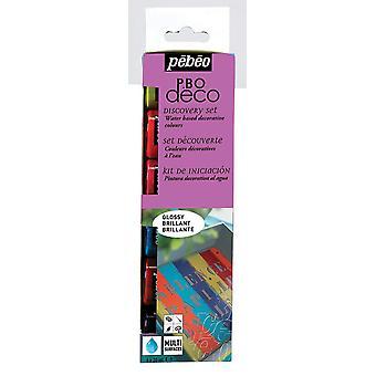 Pebeo Deco Acrylic Paint Discovery Set Glossy 6 x 20ml