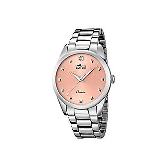 Lotus quartz watch with analog display and rose gold ladies bracelet in sterling silver and stainless steel strap 18142/2