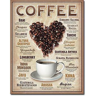 Coffee (Heart of Beans) metal sign  (de)