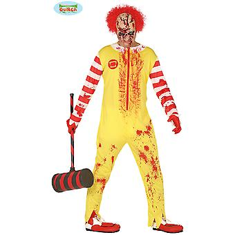 Trajes de los hombres traje de payaso Zombie Burger