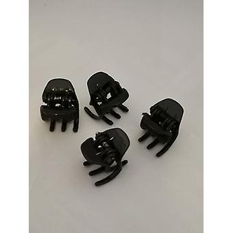 Hair clamps Small (4 Pack) (Black)