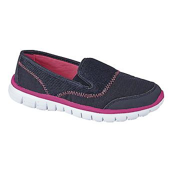 Ladies Womens Leisure Shoes Twin Elastic Gusset Slip On Lightweight