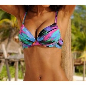 Sunseeker bar-top trendy ladies bikini top F-Cup stained
