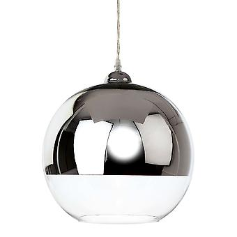 Firstlight-1 Light Ceiling Pendant Chrome und Clear Glass-5908CH