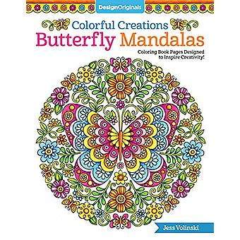 Colorful Creations Butterfly Mandalas - Coloring Book Pages Designed t
