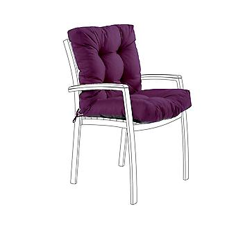 Gardenista® Water Resistant Ultra Violet Tufted Two Part Chair Cushion