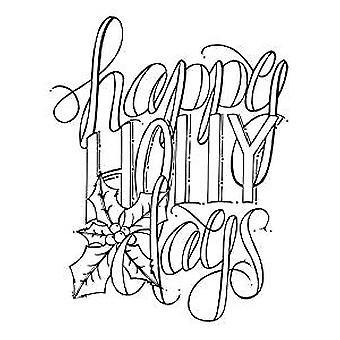 Spellbinders Happy Holly Days Cling Stamp Set (SBS-061)